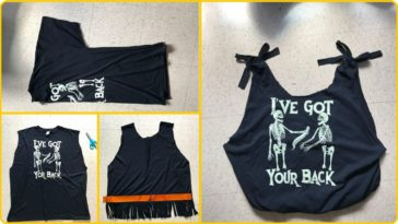 old t shirt to tote bag