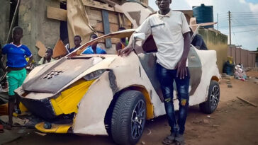african teenager builds his own car