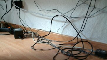 tricks to hide messy cables at home