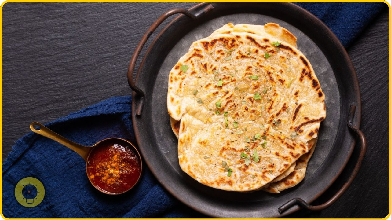 paratha indian bread for breakfast
