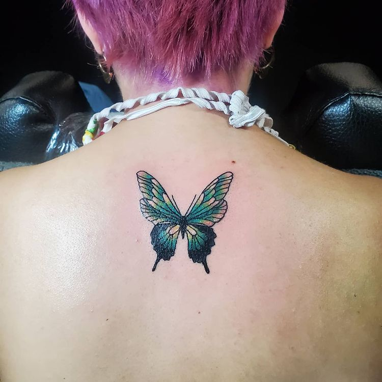 gorgeous back tattoos butterfly 3d tattoos